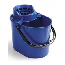 1003039 Ведро ACG 12 л. с решеткой-отжимом для резьбовых мопов (Синее)