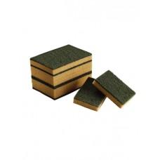 1003095 Губки ACG с абразивным слоем (зелёные), 10 шт./уп