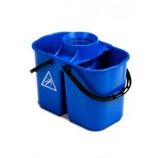 1003123 ACG Ведро двойное  пластиковое 15 л. с решеткой-отжимом для мопа