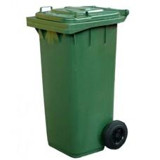 1003128 Бак ACG для мусора с крышкой, на двух колёсах, 120 литров. зелёный.