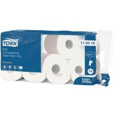 Туалетная бумага в стандартных рулонах Tork Premium, система Т4, 110316