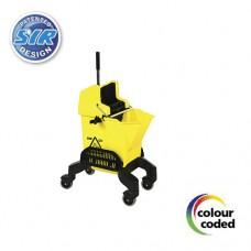993601SS сервисное Эрго ведро на колесах с фильтром-ловушкой для грязи и отжимом 16 л.