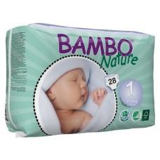 Bambo Nature Подгузник для детей Newborn 1  2-4 кг 28 шт. (310131)