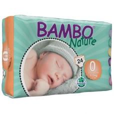 Bambo Nature Подгузники для детей Premature 0 (1-3 кг) 24 шт. (310130)
