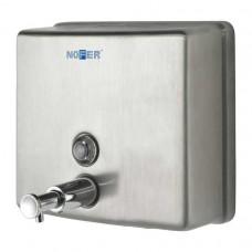 Диспенсер для мыла  Nofer Inox, нержавеющая сталь, матовый, 1200мл, квадратный