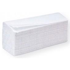 Листовые полотенца 2-х слойные Vсложения,белые,200л,23*23, 1кор/20упак 808221