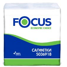 Столовые бумажные салфетки Focus Ecomic 24 х 24 см,1 слой 5036918
