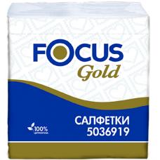 Столовые бумажные салфетки Focus Gold 30 х 30 см, 1 слой 5036919