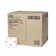 Бумага туалетная листовая Tork Advanced, система T3, 114271