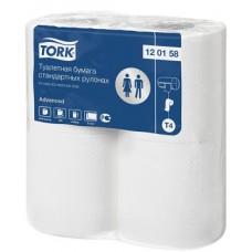 Бумага туалетная в стандартных рулонах Tork Advanced, система T4, 120158