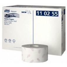 Бумага туалетная Tork Premium в мини-рулонах ультрамягкая, трехслойная, система T2, 110255