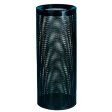 Урна круглая К250Н из оцинкованной стали с полимерным покрытием перфорация 30 л