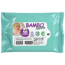Влажные салфетки Bambo Nature, 10 шт. (659723)