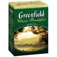 Чай Greenfield Classic Breakfast, черный, 100 фольг. пакетиков по 2гр