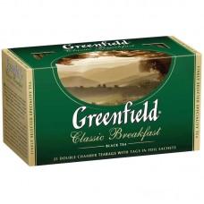 Чай Greenfield Classic Breakfast, черный, 25 фольг. пакетиков по 2гр