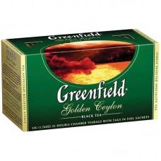 Чай Greenfield Golden Ceylon, черный, 25 фольг. пакетиков по 2гр