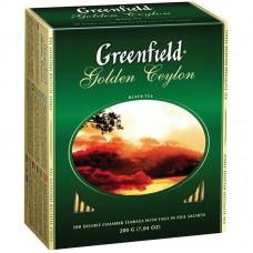 Чай Greenfield Golden Ceylon, черный листовой, 100гр