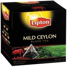 Чай Lipton Mild Ceylon, черный, 20 пакетиков-пирамидок по 1,8гр
