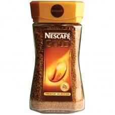Кофе растворимый Nescafe Gold, 190г, стеклянная банка