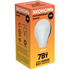 Лампа светодиодная Старт ECO LED GLS E27, 7W40