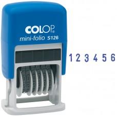 Нумератор мини автомат 3,8мм, 6 разрядов, пластик
