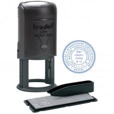 Печать самонаборная автоматическая, Ø45мм, 2 круга