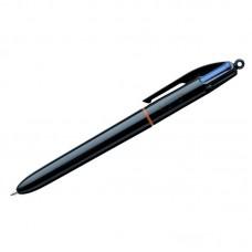 """Ручка шариковая автоматическая BIC """"4Colors"""", 4цв., 1мм, черный корпус, классические цвета"""