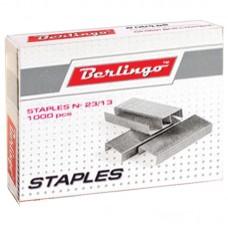 Скобы для степлера №23/13, оцинкованные, 1000 шт.