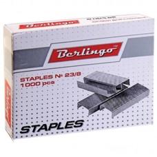 Скобы для степлера №23/8, оцинкованные, 1000 шт.