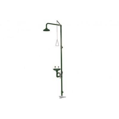 Аварийный душ  с раковиной для промывки глаз из полипропилена,   арт. SC 700