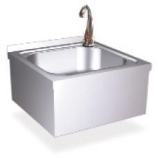 Настенная квадратная раковина с автоматическим сенсором для включения воды,  13046.ВАТ