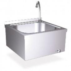 Настенная квадратная раковина с кнопкой для включения воды ногой, 13046